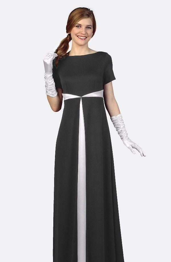 Style 115XR - Performance Knit Dress with Split Skirt