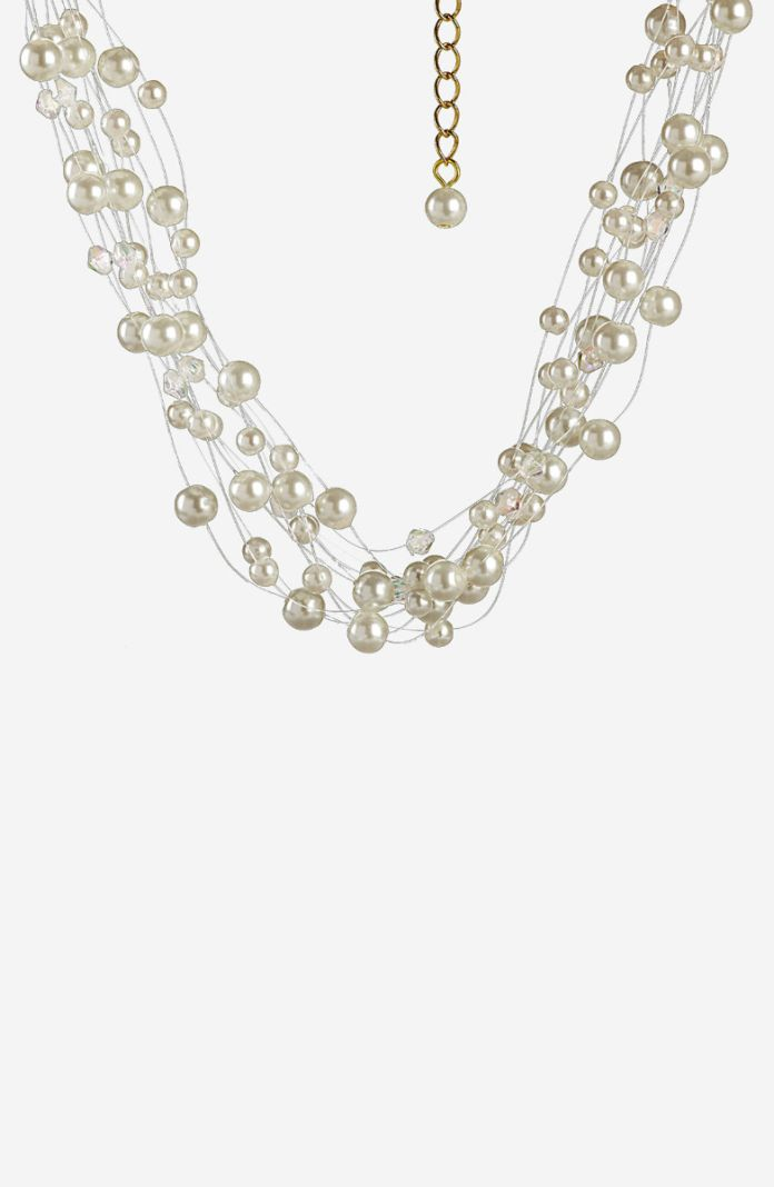 Style 1059A - 15 inch Adjustable Multi-Strand Necklace