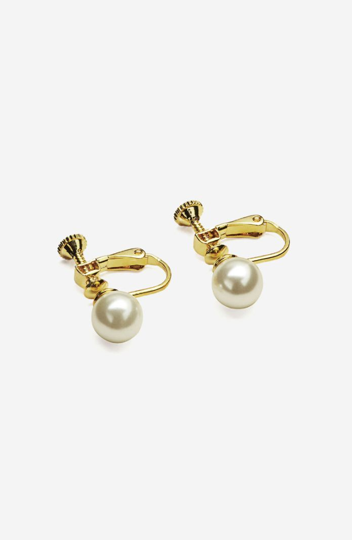 Style 1073D - Fashion Pearl Screw Back Earrings