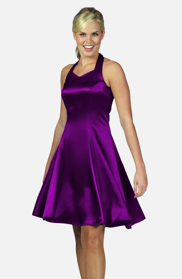 Style 1520RA - Royal Satin Swing Dress