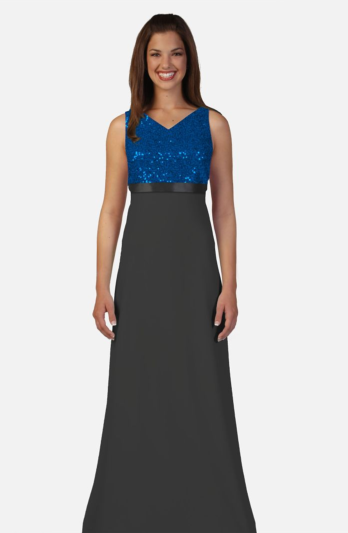 Style 4820QX - Deluxe Sequin Bodice with Performanc Knit Skirt