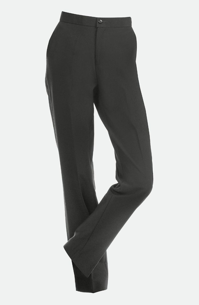Style 6504W - Ladies Comfort Waist Tuxedo Pant with Tailored Front